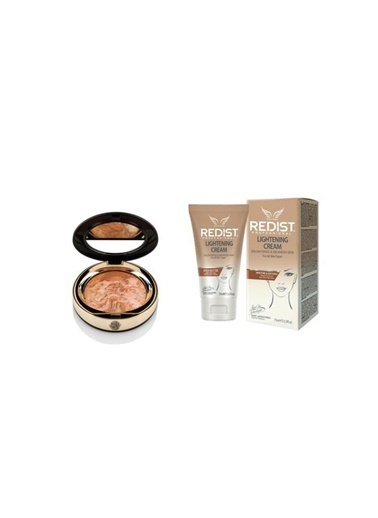New Well Newwell Terracotta Porcelain Make-Up D-142 15 Gr+Redist Lightening Cilt Beyazlatıcı Krem 75 Ml Ten